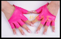 Wholesale 2012 HOT pairs Fashion Lady Sexy Fingerless Sheep Leather Gloves Half Palm BLK four colours