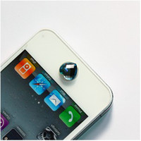 Wholesale Crystal Bling Home Button Sticker Heart Shape decoration for apple iphone GS G S ipod touch p