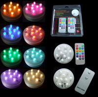 80pcs lot New arrinal 9LED changing color submersible remote...