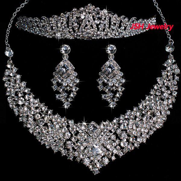 bridal wedding jewelry set costume jewelry rhinestone wedding jewelry