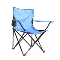 Wholesale Folding Arm Chair For Tailgating Backyard Picnics Large Size Blue Ship From USA