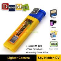 Wholesale Hidden Spy DVR Camera Cam recorder dhl Lighter Mini DV Style USB