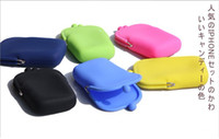 Wholesale Colorful Cosmetic bag Portable colorful Storage Bags Silica gel Mix colour makeup Bag
