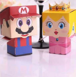 Wholesale Super Mario Candy Box Wedding Shower Party Favor Jewelry Boxes Cartoon Gift Holder Bag
