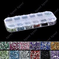 Wholesale Christmas Mix Color mm Teardrop Nail Art Rhinestones Decoration Glitters Gems Agood