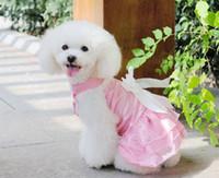 Wholesale pink white purple New Pet clothing Pet summer clothing Pet Wedding dress princess dress free ship