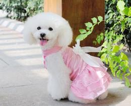 pink, white, purple New Pet clothing Pet summer clothing Pet Wedding dress princess dress free ship