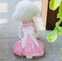 Wholesale New Pet summer clothing Pet Wedding dress princess dress mix color