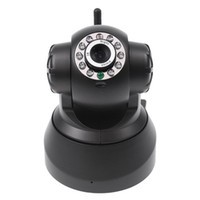 Wholesale Nightvision IR Web Camera WiFi Wireless IP Camera white black color