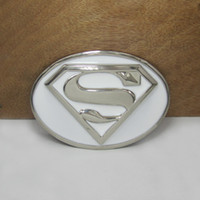 Wholesale Belt buckle fashion buckle with superman with silver plating MOQ FP