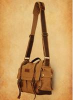 Wholesale DSLR SLR Camera Canvas shoulder bag BBK for Sony Canon Nikon Olympus Backpacker M size