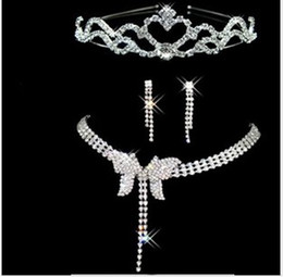 Bridal jewelry sets Chain the diamond necklaces Crown Parure jewelry wedding marriage celebrate