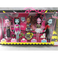 Wholesale retail Sample Monster High Dolls Toy Set of PVC Action Figure Doll Brand New In Box Gifts Hot Sale