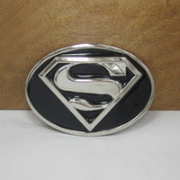 Wholesale Metal buckle metal belt buckle with superman with silver plating FP