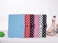 Wholesale Wave point Pattern Leather Stand Case for iPad Mini Candy Color Flip Leather Case With Polybag A005