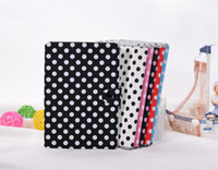 Wholesale Wave point Pattern Leather Stand Case for iPad Mini Candy Color Flip Leather Case PPbag A005