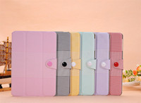 Wholesale Kore point Pattern Leather Stand Case for iPad Mini Candy Cute Flip Leather Case With Polybag A008