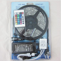 RGB Strip Light LED Rope Lamp SMD5050 60LED M Flexible Strip + 24 key controller + 5A12V power
