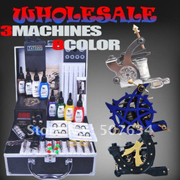 Wholesale Complete quality Tattoo Kit Machine Gun Ink power supplies Set DIY A018