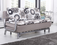 Wholesale POLYESTER CLOTH FOLD SOFA BED MODERN STYLE SALLOW DS027 C2