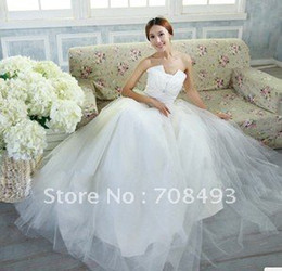 Wholesale Royal wedding dresses XS XXXL lace bridal wedding gowns for ball gown bride wedding gown princess luxury bride wedding gown