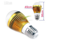 Wholesale High power CREE W Led bulb Bulbs x3W GU10 MR16 GU5 B22 E14 E27 V LED Lights downlight Ball