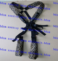 Swings   Real photo BDSM factory Leopard bound Lovers Swing Sex Game Adult Products Bondage