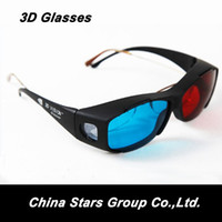Wholesale Red Cyan Plastic D Glasses Resin Lens Anaglyphic Red Blue D Movie Glass D DVD Game Dimensional