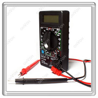 Wholesale S5Q Digital LCD Ranges AC DC Voltmeter Ammeter Ohm Multimeter with Test Leads AAAAOM