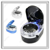 Wholesale S5Q Fireproof LED Car Air Vent Smoke Cigrette Holder Travel Ashtray Ash Tray Cup AAAAGK