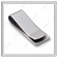 Wholesale S5Q New Fashion Mens Present Silver Stainless Steel Money Wallet Clip Card Gift AAAATL