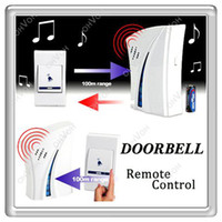 Wholesale S5Q Wireless Doorbell Digital Wireless Door Bell Cordless Doorbell Tune Melody Home Decorations AAAAFW