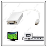 Wholesale S5Q Mini Display Port Male to VGA Female Converter Adapter for Apple MacBook New AAAALR