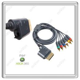Câbles xbox av en Ligne-S5Q 6 à 1 composant HD AV Cable cordon adaptateur pour XBOX360 Xbox 360 Microsoft HDTV AAAAMA
