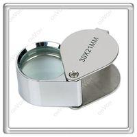 Wholesale S5Q x mm Lens Metal Pocket Jeweler Eye Loupe Magnifier Jeweler Magnifying AAAANZ