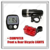 LED bicycle computer settings - S5Q NEW LED Bike Bicycle Front Head Light amp Rear Tail Flashlight Lamp Computer AAAAQI