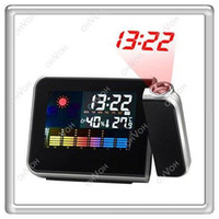 Wholesale S5Q New Digital Weather Thermometer Projection Snooze Alarm Clock Color Display AAAAUM00BK