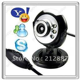 S5Q 12MP Mic Webcam USB de la videocámara de la cámara 6 LED cámara web para el ordenador portátil PC en línea MSN Skype AAAACP