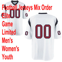 Wholesale 2012 New Football HT WHITE color Elite Game Limited Jersey Adult Kids Mix order minging1225