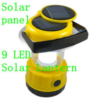 Wholesale Camping Lantern Lithium Cell V mah leds LED rechargeable solar emergency light