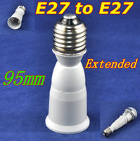 Wholesale 20pcs led lamp base E27 socket mm E27 to E27 extended adapter converter holder for led bulb