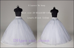 Wholesale New Style WHITE Layers No hoop Bridal Crinoline Petticoat Wedding Accessory Undergarment