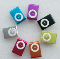 Wholesale Christams Gift clip MP3 Player with Clip control color support GB Micro SD TF card slim mp3 pla