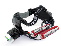 Wholesale New Lm CREE XM L XML T6 LED Headlamp Rechargeable Headlight SET X MAH Battery