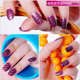 Wholesale 3D Fashion Magical Magnetic Magnet Nail Polish Art Magnet Slice Colors