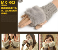 Wholesale 50 pairs female autumn and winter semi finger handmade knitted wool fur faux keyboard gloves g