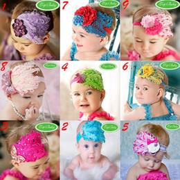 100 pcs Baby Girl Feather Headband Infant Head Decoration Christmas Flower Hair Band Child Headwear