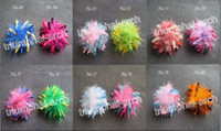 Wholesale new style PC Girl quot marabou feather Corker Hair bowsBow Clip flower have Clip AA