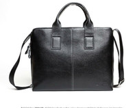 Wholesale Hot selling fashion genuine leather business shoulder bag cow leather laptop bags for men men s bi
