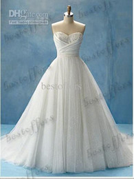 Wholesale 2011 New arrival hot style Cinderella Straplee Sweetheart Organza Wedding Dresses DSN008
